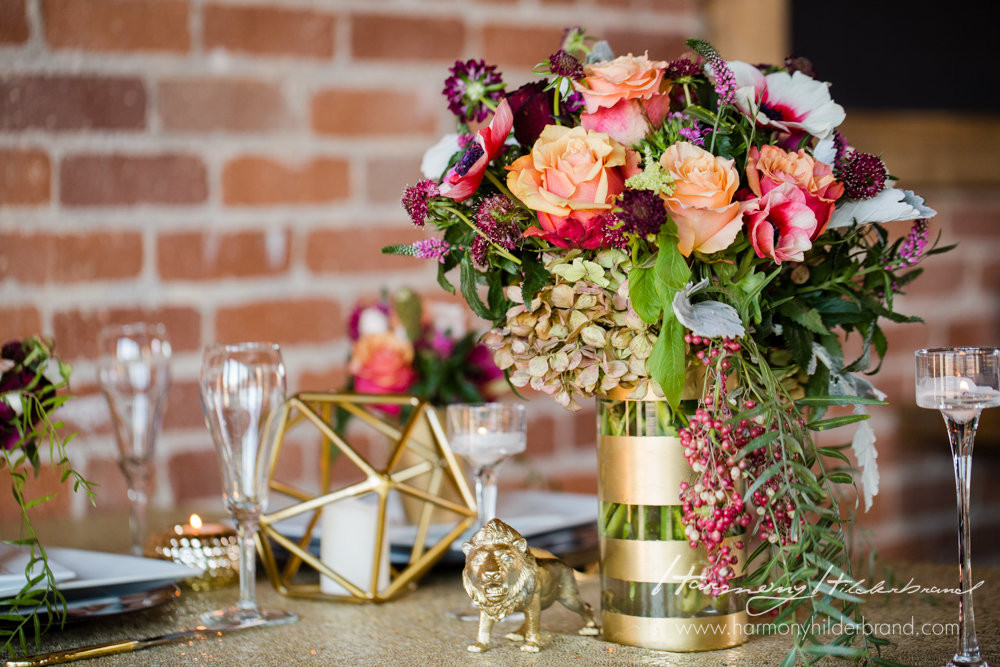 A Floral Affair - Overland Geometric Shoot- Reception