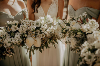 White, Foliage, and Wildflower {Real Wedding}