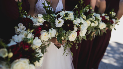 Marsala and White {Real Wedding}