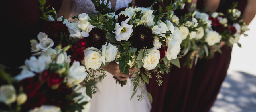 Marsala and White {Real Wedding}