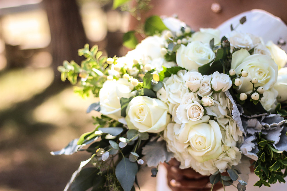 A Floral Affair Crisp White Bridal Bouquet