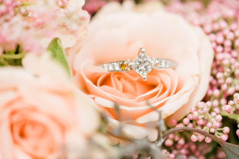 A Floral Affair- Bouquet and Ring Detail