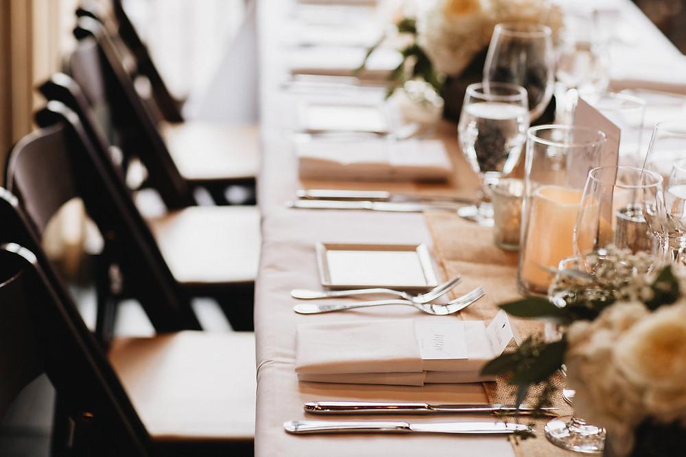 A Floral Affair Candle Centerpiece West Shore Cafe