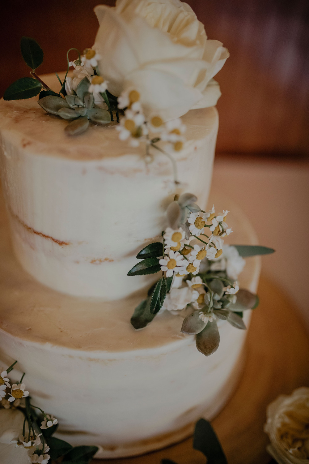 Cake with Wildflower accents