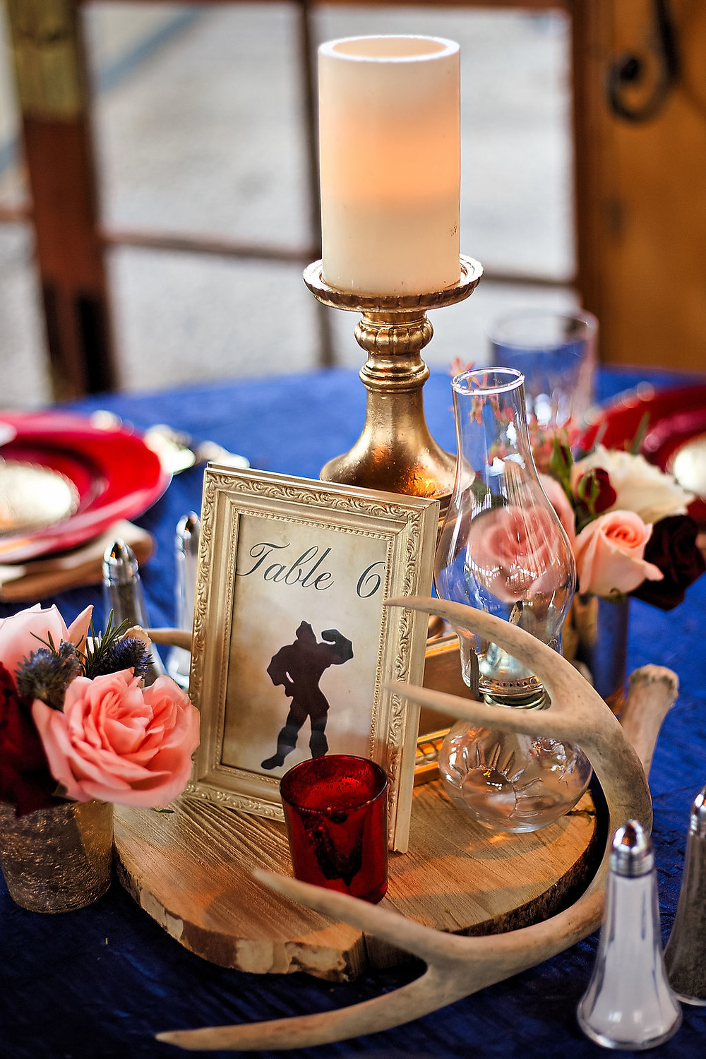 A Floral Affair: Beauty and the Beast Wedding Centerpiece