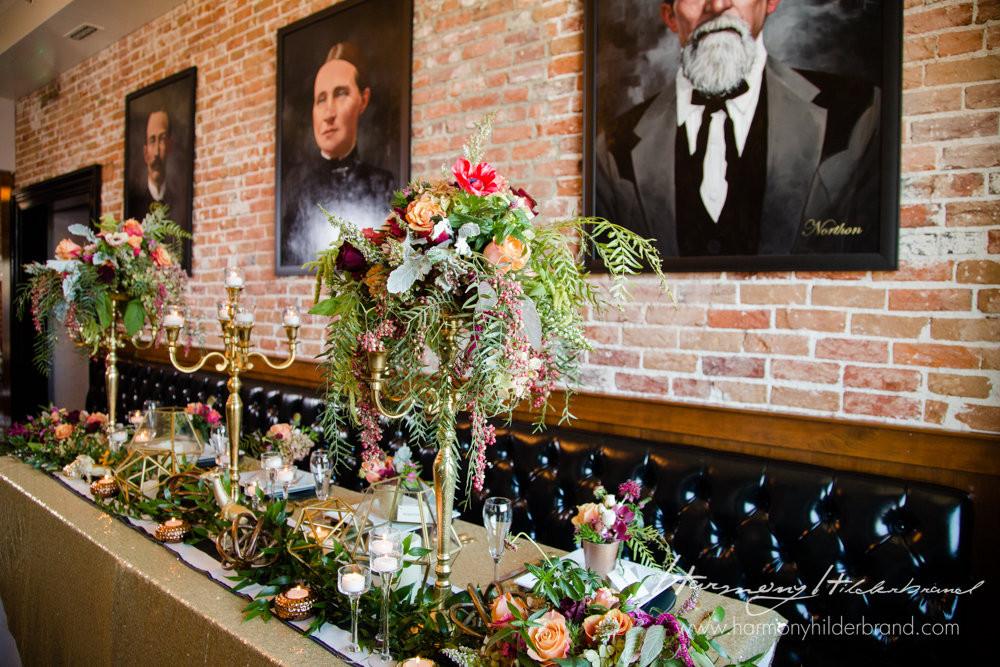 A Floral Affair - Overland Geometric Shoot- Reception Head Table