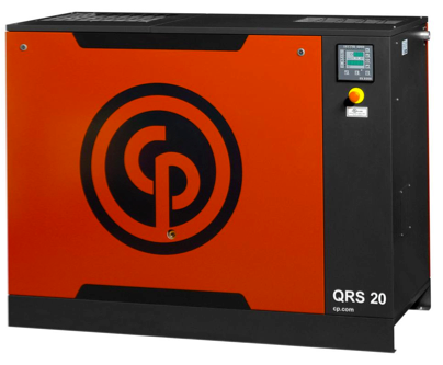QRS-20 Chicago Pneumatic 20-HP Rotary with Dryer
