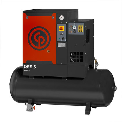 QRS-5-1 Chicago Pneumatic 5-HP Rotary with Dryer