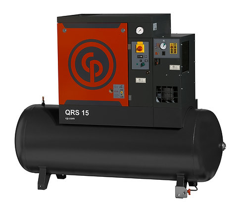 QRS-15 Chicago Pneumatic 15-HP Rotary with Dryer