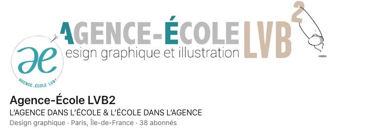 Agence-École LVB² design graphique sur Linkedin