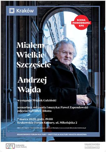 Miałem Wielkie Szczęście – Andrzej Wajda / KFK - 7 marca godz. 19.00