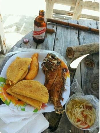 Jamaican beach food