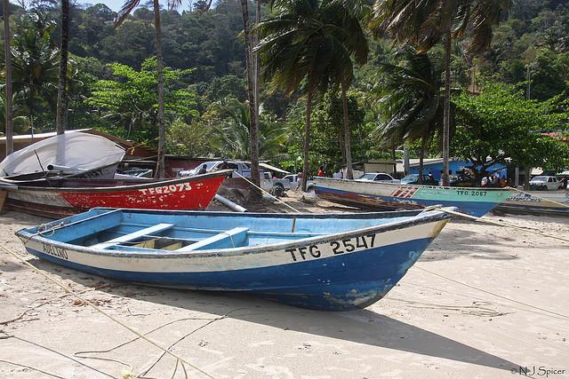Maracas Bay boat