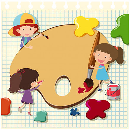 modello-di-confine-con-bambini-che-dipin