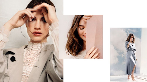 Burberry Blush with Lily James, Burberry