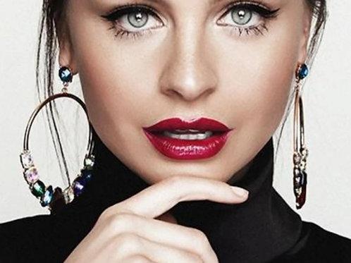 Shanghai Suzy Satin Luxe Lipstick - Garnet