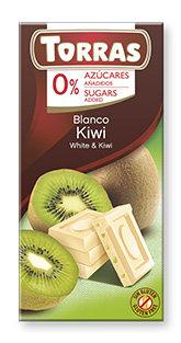 Chocolate Blanco con Kiwi Sin Azúcar