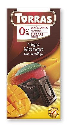 Chocolate Negro con Mango Sin Azúcar Torras