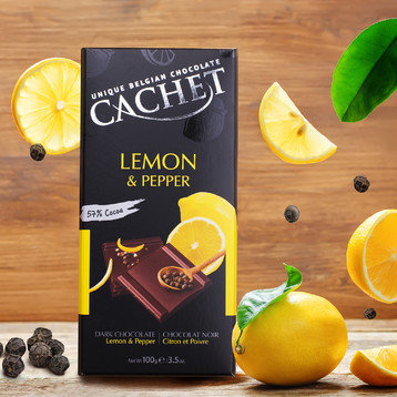 Chocolate Negro Limon y Pimienta Cachet