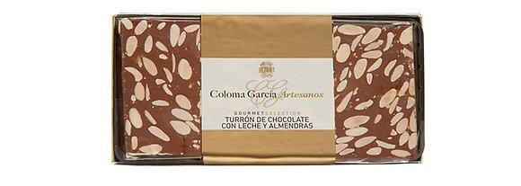TURRÓN DE CHOCOLATE CON LECHE Y ALMENDRAS 500 G