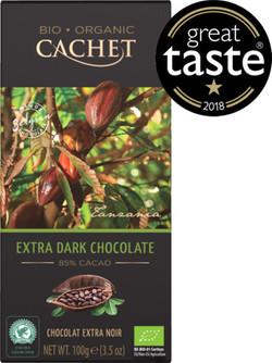 TABLETA ORGANICO 85 % CACAO CACHET