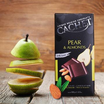 Chocolate Negro Pera y Almendra Cachet