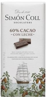 Chocolate Leche 60 % Cacao Simon Coll