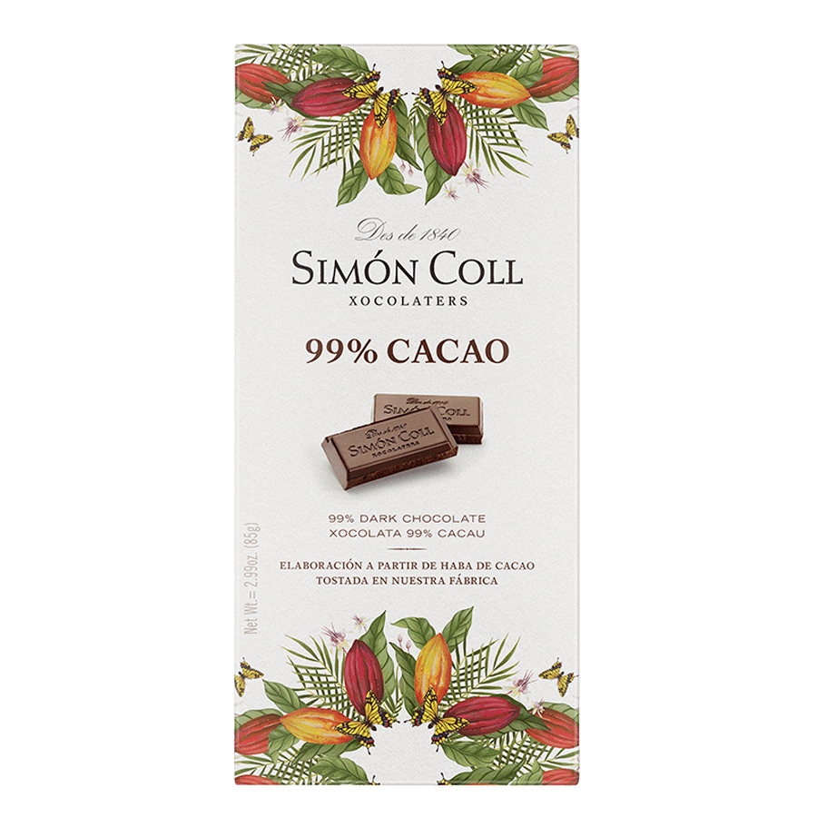 TABLETA CHOCOLATE 99 % CACAO SIMON