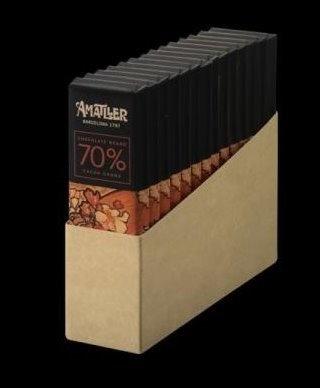 14 Chocolatina 70% 18 grs Origen Ghana Amatller