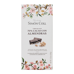 chocolate 70 % cacao con almendras Simon