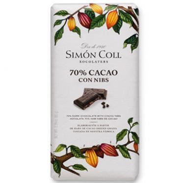 Chocolate 70 % con Nibs Smon