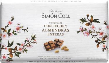 Chocolate Leche Almendra 200 grs Simon