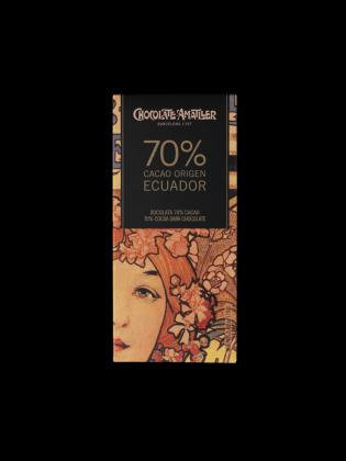 Tableta chocolate 70% Ecuador 70grs Amatller