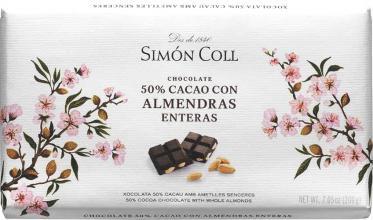 Chocolate Negro Almendras 200 grs. Simon Coll