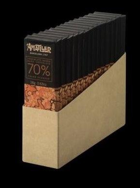 14 Chocolatina 70% cacao Ecuador 18 grs Amatll