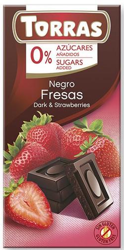Chocolate Torras Sin Azucar 75 g negro con fresas_edited