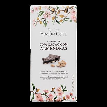 Chocolate 70 % con Almendras Simon Coll