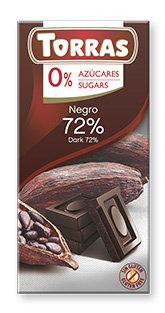 Chocolate 72% cacao sin azúcar Torras