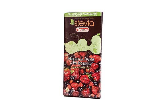 Chocolate Frutos Rojos Stevia Torras