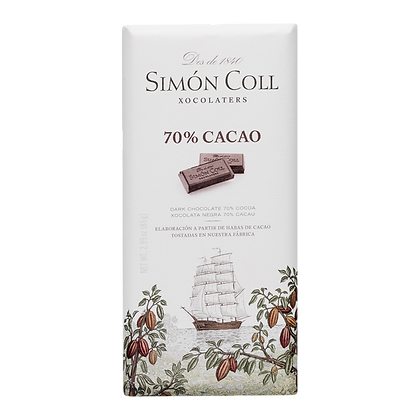 Chocolate 70% cacao 85 grs Simon
