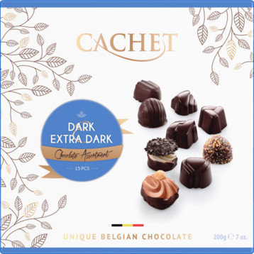 Bombones Surtidos Chocolate Negro y 77 % Cachet