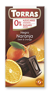 Chocolate Negro con Naranja Sin Azúcar