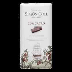 TABLETA CHOCOLATE 70 % CACAO 85 G. SIMON COLL