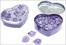 Lata Violetas Corazón 60 gr. Pifarré