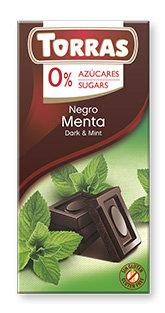 Chocolate Negro con menta Sin Azúcar Torras