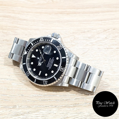 Rolex Oyster Perpetual Steel 40mm Submariner Date REF: 16610 (M)(2)