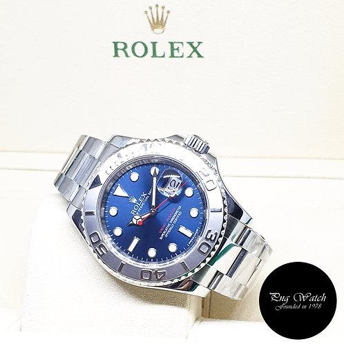Rolex Oyster Perpetual Blue Platinium Bezel Yachtmaster REF: 116622