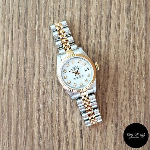 Rolex Oyster Perpetual White 10PT Diamonds Datejust REF: 69173 (2)