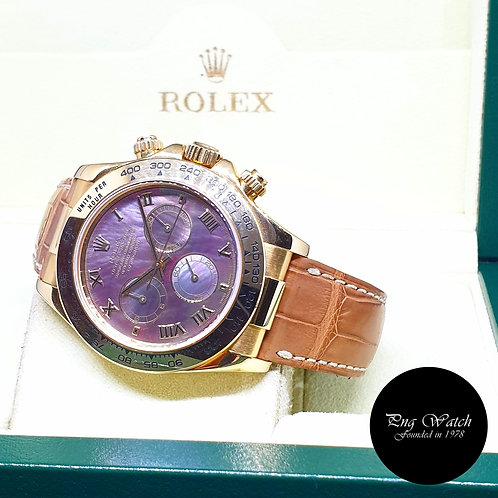 Rolex 18K Yellow Gold Black MOP Daytona REF: 116518