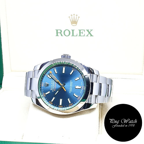 Rolex Oyster Perpetual Blue Milgauss REF: 116400GV